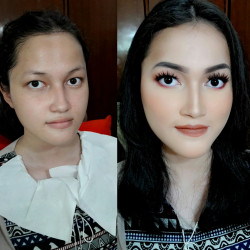 Portfolio-4-Hasil-private-makeup-classLeft-by-meRight-by-my-student-oleh-Zannah-Octavia-di-HelloBeauty