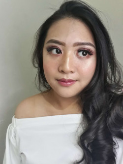 Portfolio-1-Natural-burgundy-look-with-faux-freckles-simple-big-curl-hairdo-for-Ms-Ganesia-oleh-Novia-Makeup-n-Hairdo-di-HelloBeauty