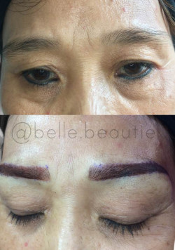 Portfolio-3-Eyebrow-Transformation-Before-and-AfterTechnique-MicrobladingColour-Dark-BrownGet-your-eyebrows-beautified-at-Belle-BeautieContact-oleh-Belle-Beautie-di-HelloBeauty